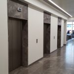 fume emeperador marble has been used at luxury Project on elevator cladding & heavy trafficking floor at london UK.