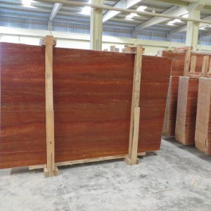 persiano red travertine