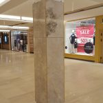 silver emeperador marble has been used at luxury historical milton Keynes shopping mall on column claddings at london UK.